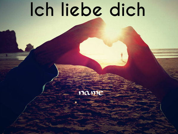 Photo of write your name on ich liebe dich image