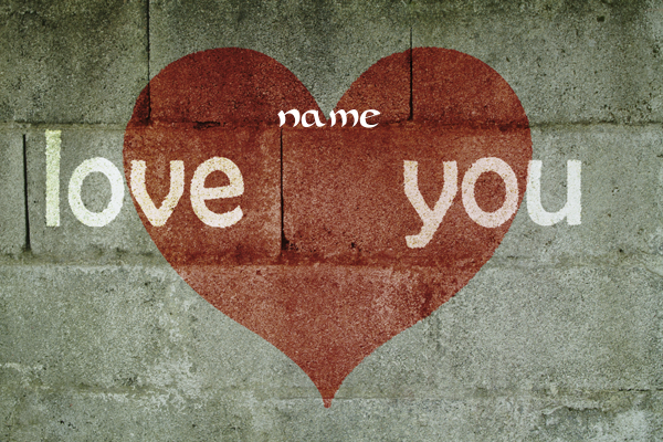 Photo of write you love name on lover wall