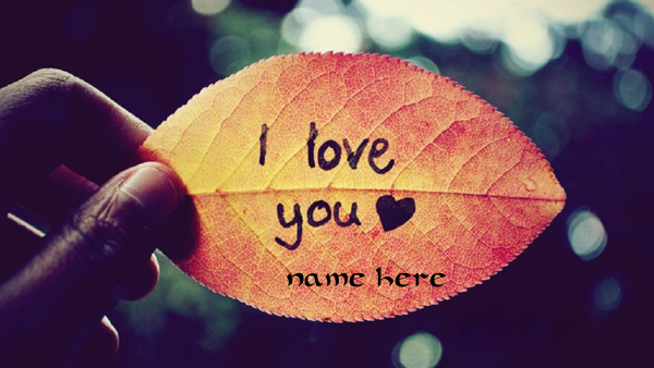 Photo of write your love name on tree leave