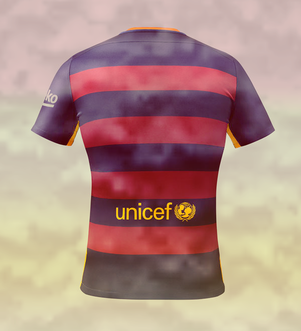 Photo of write your name and Your favorite number on gif barcelona back shirt