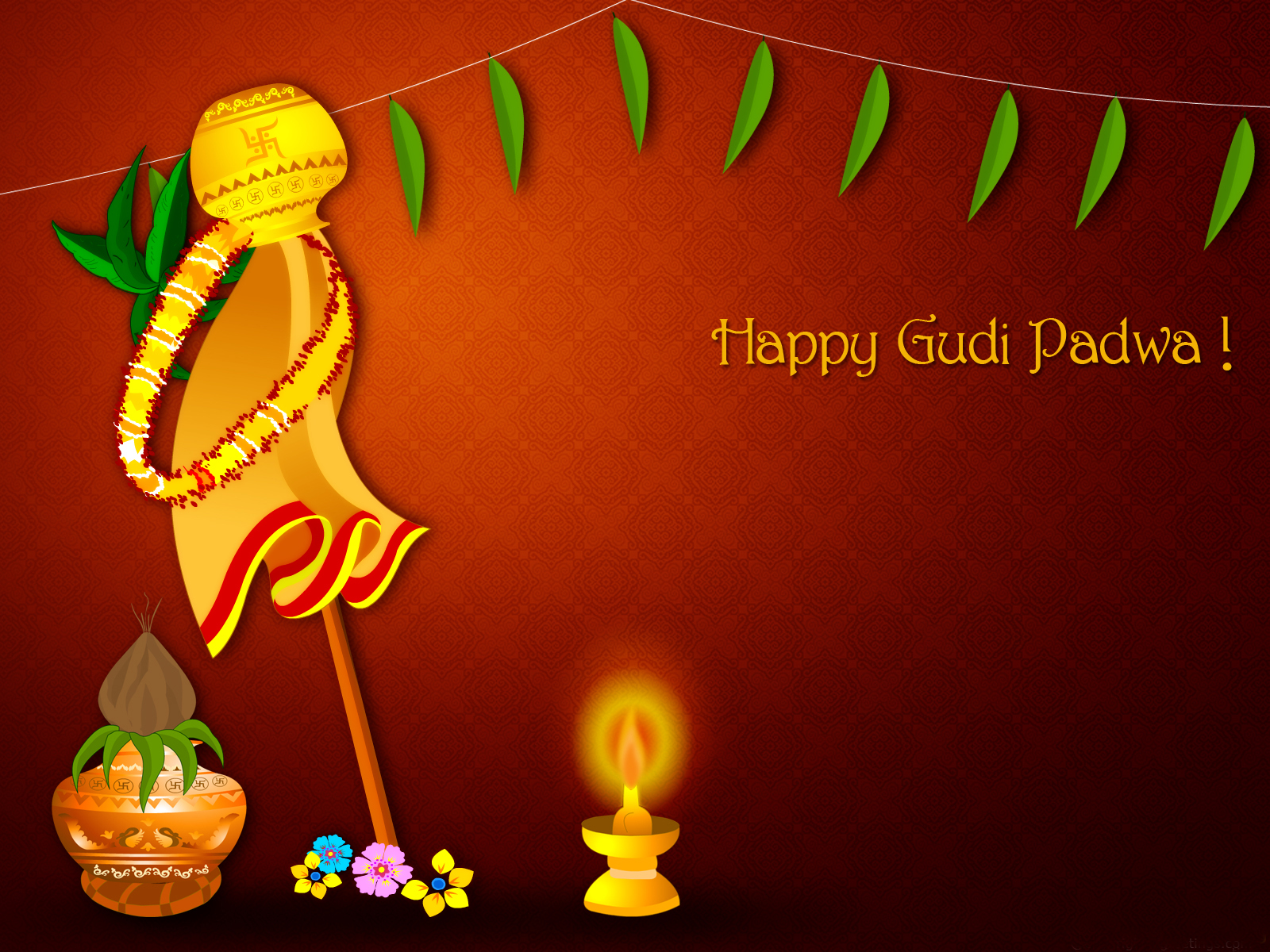 Photo of Write any name on happy Gudi Padwa