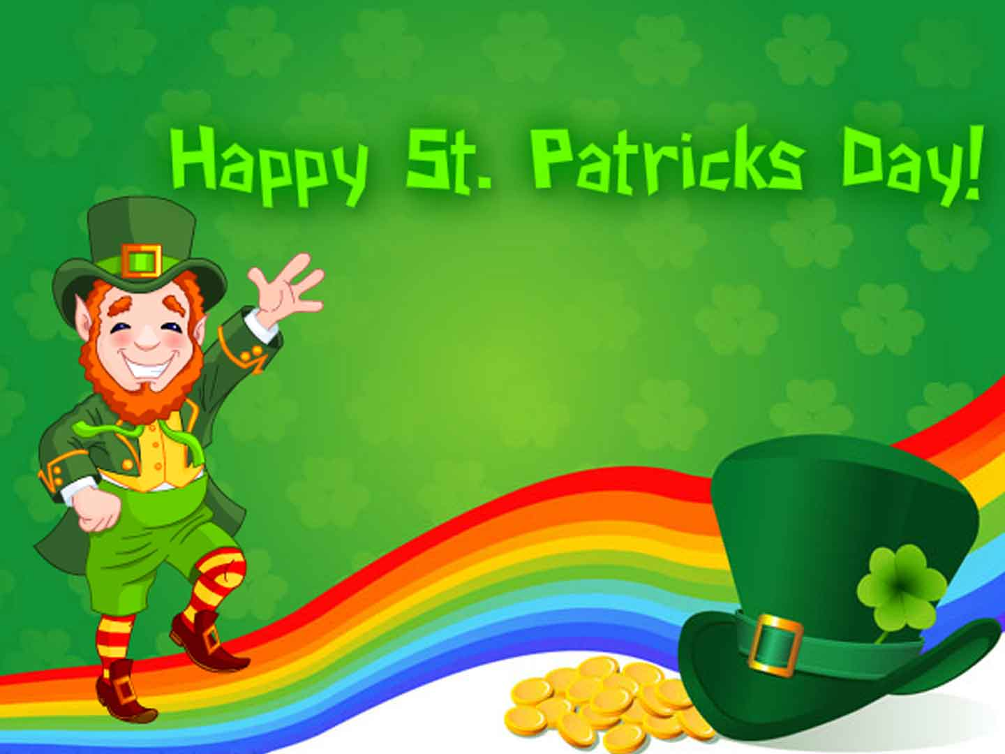 Photo of Happy Saint patrick's day wish image with name