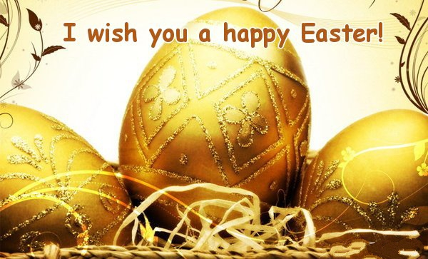 Photo of Write name on I wish you a happy Easter