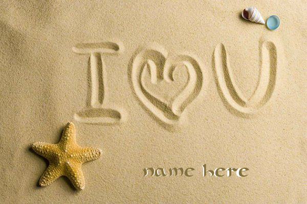 Photo of write your love name on sand