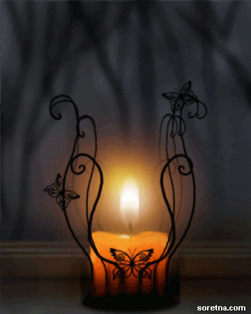 Photo of write your name on gif romantic candle