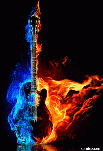Photo of write your name on your fire guitar gif photo