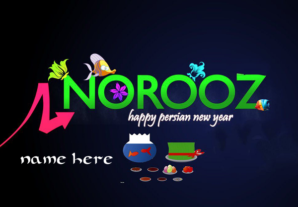 Photo of Write name on happy Norooz day