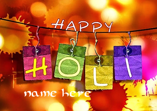 Photo of Write name on happy holi