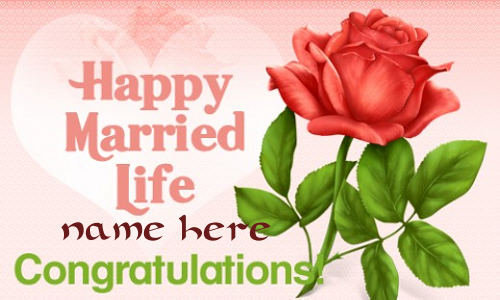 Photo of Write name on happy married life