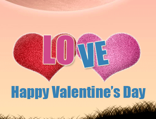 Photo of write on gif your names letters on happy valentine day