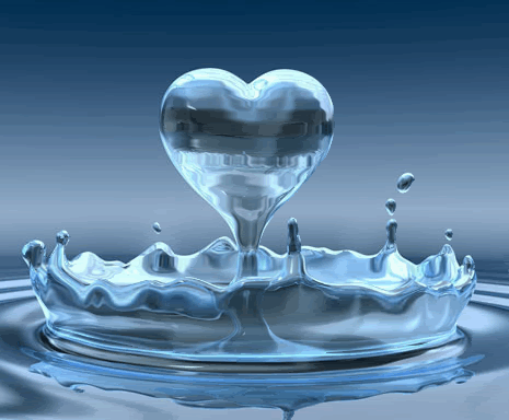 Photo of write your love name on water heart gif image