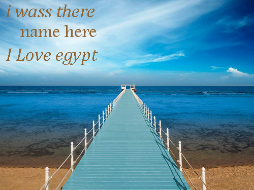 Photo of write your name on i love you egypt