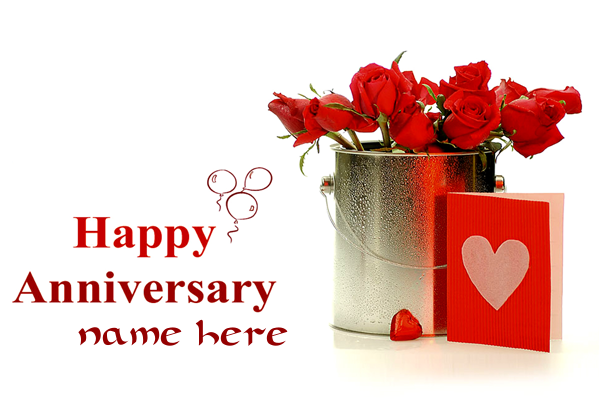 Photo of write your lover name on happy anniversary