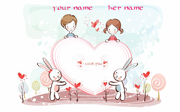 Photo of write your names on i love you couples image