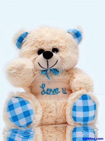 Photo of write your lover name on bear of  love gif photo