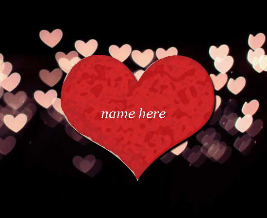 Photo of write your love name on gif love heart