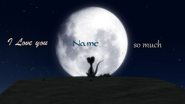 Photo of write your lover name on moon i love you so much