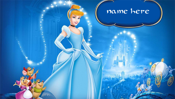 Photo of write your name on Cinderella photo
