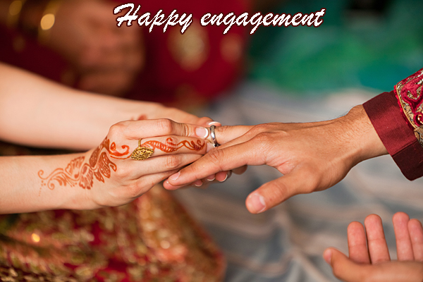 Photo of write your names on happy engagement Indian photo