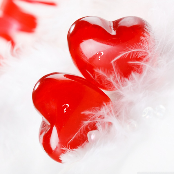 Photo of write yours two characters on image of lovers hearts