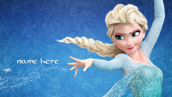 Photo of write your name on frozen image