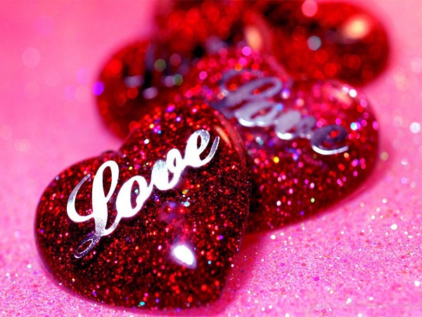 Photo of Write your name on Glitter love heart