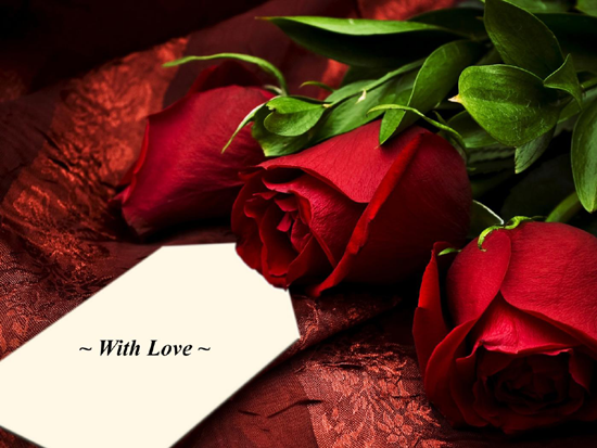 Photo of write your love name on with my love red flowers