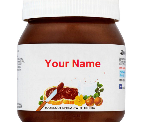 write your name on nutella