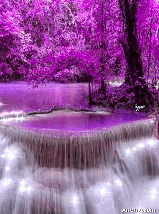 Photo of write your lover name on animated magic waterfall