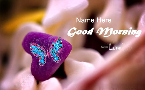 Photo of write name on gif good morning my love