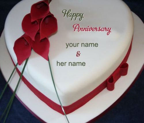 Happy Anniversary Cake Images With Name Editor Djiwallpaper Co