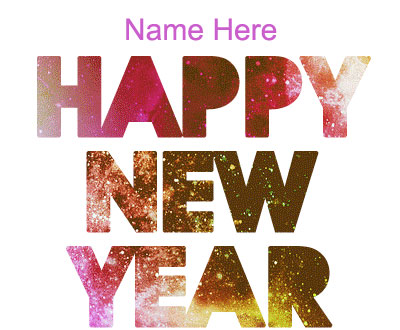 Photo of write name on gif happy new year gif holiday card