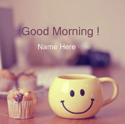 Photo of write name on good morning smile