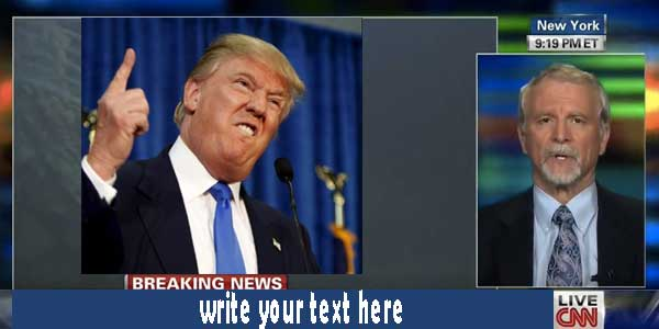 Photo of write on donald trump breaking tv news image