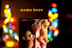 Photo of write on bear of love gif images