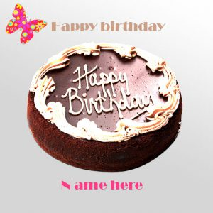 Photo of write your name on birthday cake Chocolate Birthday Cake