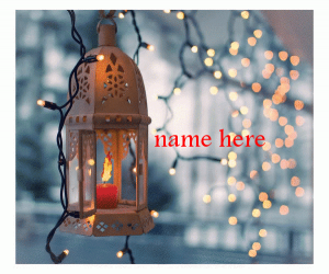 Photo of Write name on Ramadan lantern
