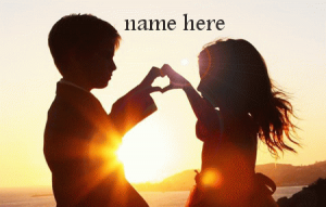 Photo of write your lover name on lovers sunrise