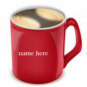 Photo of write your name on Nescafe mug gif images