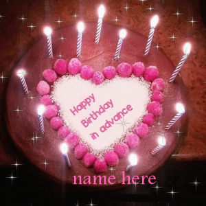 Photo of Write any name on happy birthday in advance gif