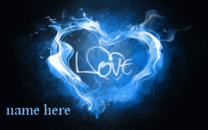 Photo of write your name on love color gif image