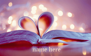 Photo of write your love name on love book gif image