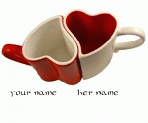 Photo of write your names on dancing lovers mug GIF images