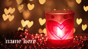Photo of add text to lovers candle gif image