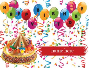Photo of write your name on kids birthday card gif