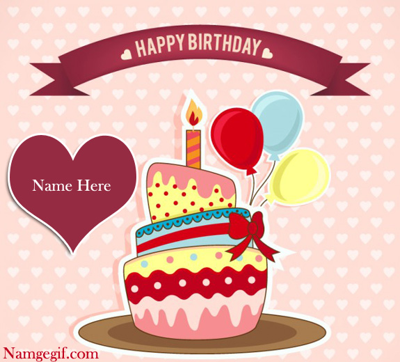 Photo of write name birthday cake card Happy Birthday Cake With Name