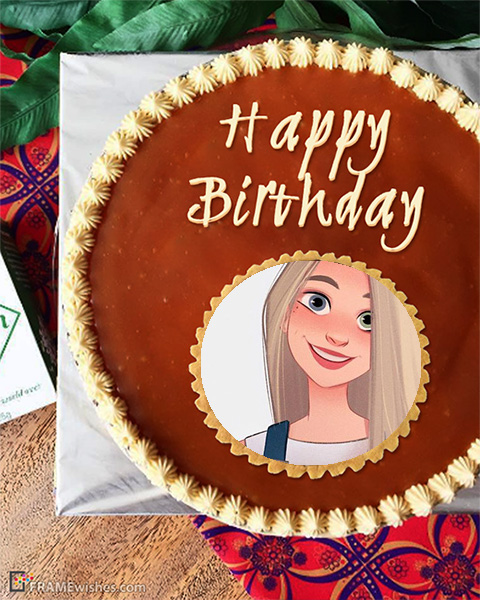 Happy Birthday Cake Photo Frame candy and stars - Happy Birthday Cake Photo Frame candy and stars