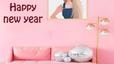 Photo of Photo Frame Happy New Year 2021 frame on wall