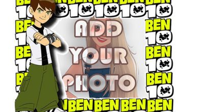Photo of ben 10 start play kids cartoon photo frame