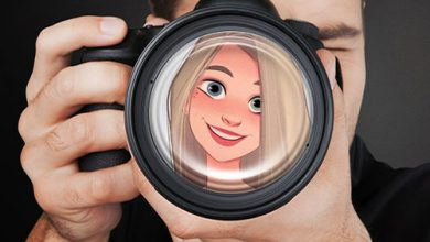 Photo of camera lens misc photo frame